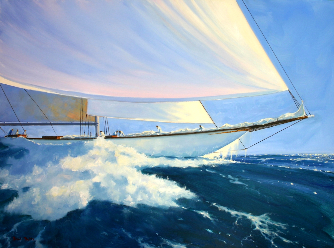 "White on Blue, 30""x40"", oil on canvas, $7,200"