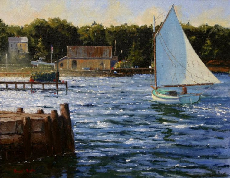 Morning Sail Off Murry Hill 14 x 18 Oil on Canvas $4,000