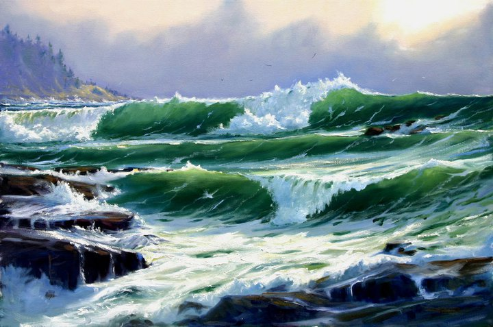Heavy Surf 24 x 36 Oil on Canvas $8,000