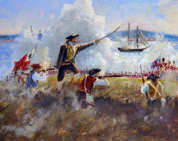 The Battle of Bunker Hill 11 x14 Oil on Linen $2,400