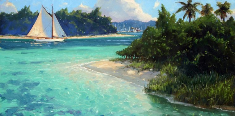 Island Passage 15 x 30 Oil on Canvas $4,800