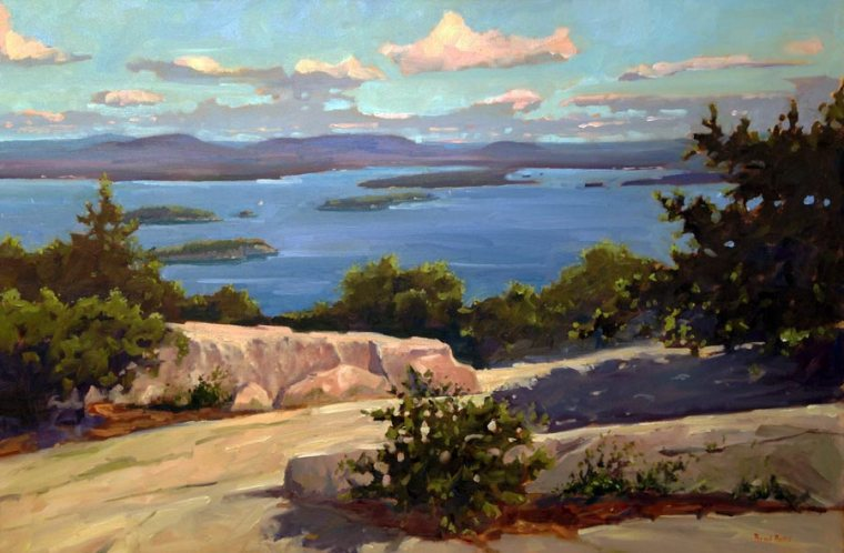 Mt. Champlain Bar Harbor 24 x 36 Oil on Canvas $8,000