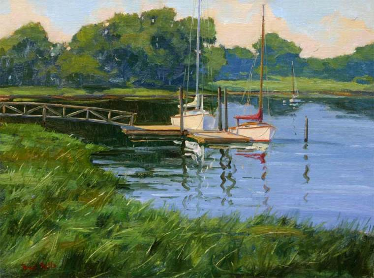 Morning On The Marsh 12 x 16 Oil On Linen $3,000