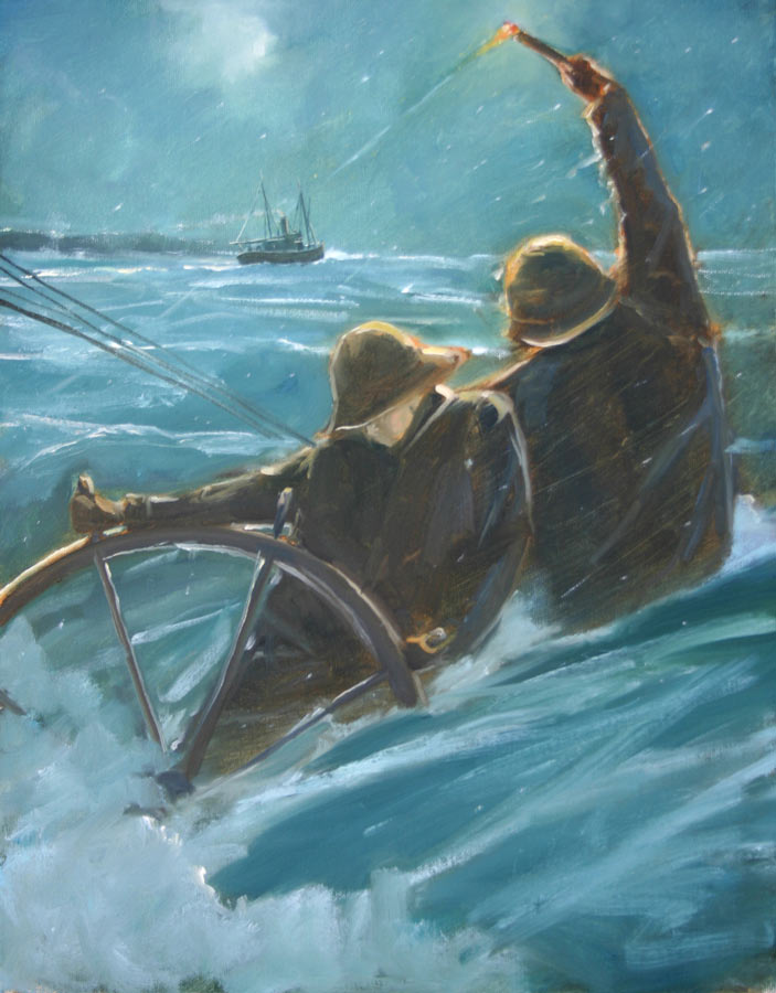 Rivals At Sea 18 x 14 Oil on Canvas $4,000