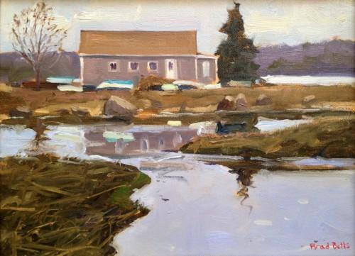 """Boathouse"" 9x12 Oil on Linen $950"