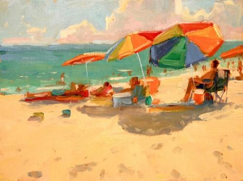 """Beach Colors"" 6x8 Oil on Linen $500"